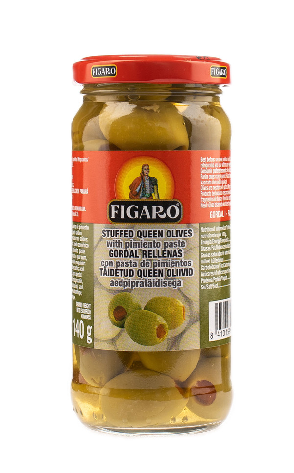 Green olives with pimento paste QUEEN (glass)