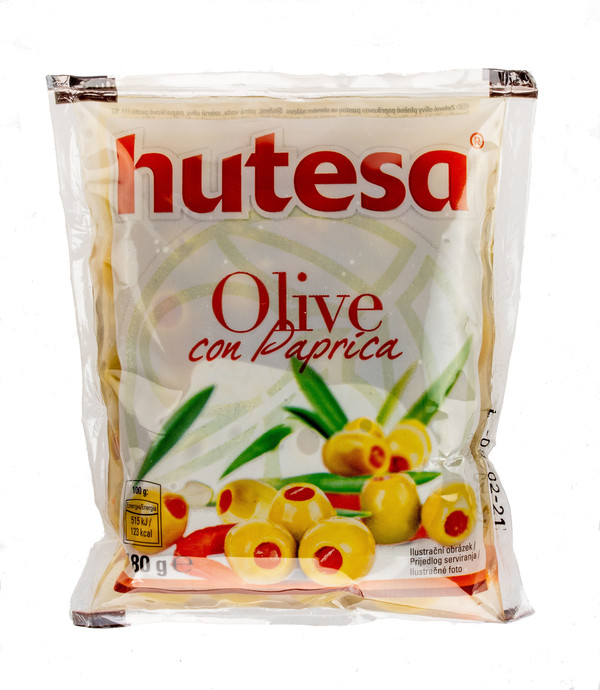 Green olives with pimento paste (plastic bag)