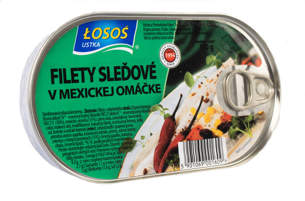 Herring fillets in Mexican sauce
