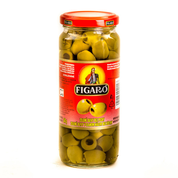 Green olives pitted (glass)