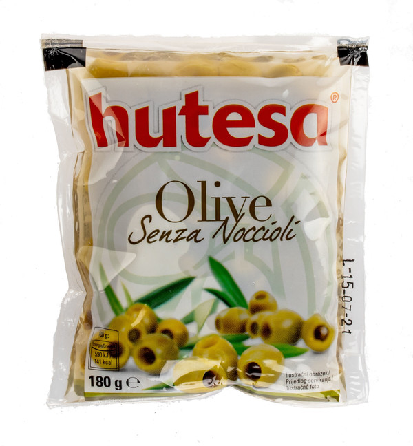 Green olives pitted (plastic bag)