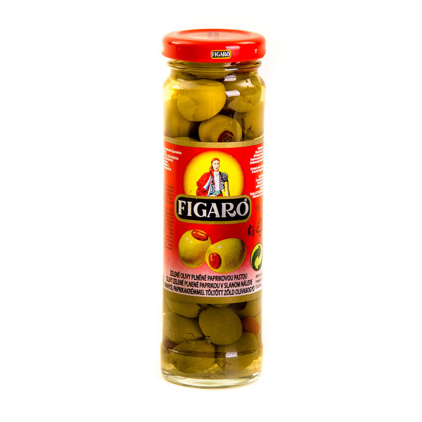 Green olives with pimento paste (glass)